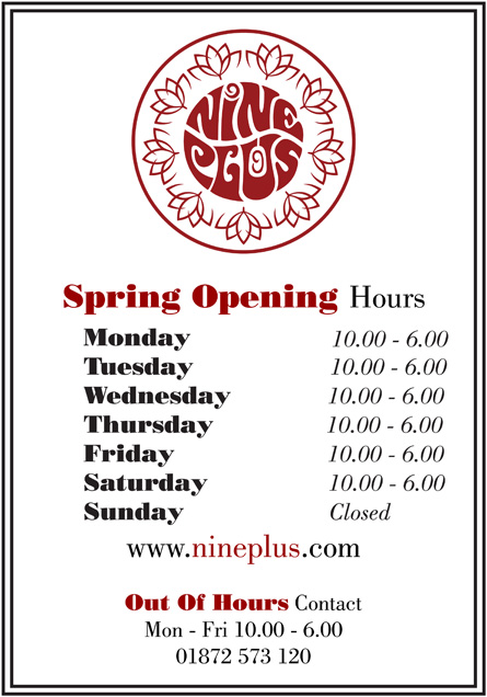 Nineplus North Devon Opening Hours